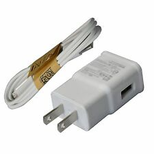 5V 2A Travel AC Wall Charger + Micro USB Cable For Galaxy Note 4 5 S6 / S7 Edge