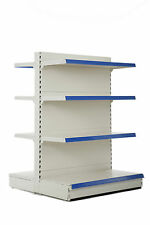 Shop Shelving - 1.4m Gondola Bay, 570mm base shelf & 3 x 470mm shelves