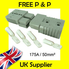 Anderson Style Plug SB 175 AMP Battery Connector Slave Jump Pair GREY 50mm2 175A