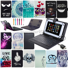 """USB Keyboard+PU Leather Case Cover Fr KOBO Pendo Pad PendoPad 7""""/8''/10'' Tablet"""