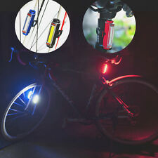 LED bike lighting 120 Lumen 3-Mode USB rechargeable Bicycle Tail Warning Light