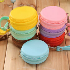 Women Cute Purse Macaron Silicone Waterproof Wallet Pouch Coin Bag lovely gift