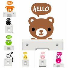 Creative Cat Wall Stickers Light Switch Decor Decals Art Mural Baby Nursery Room