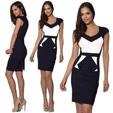 Fashion Sexy Women Bodycon Pencil Dress Formal Ladies Office Work Business Dress
