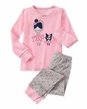 NWT Gymboree Girls Ballet Friends Two Piece Long Gymmies Pajamas Size 3 & 7
