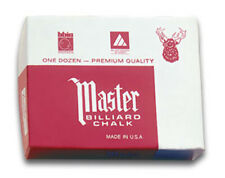 Master Chalk 12 Pcs. Billard chalk various colors black, grey, gold, red