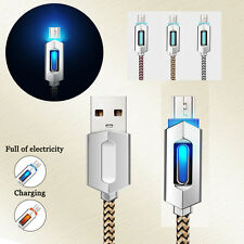 Universal Nylon Braided Luminous Micro USB Fast Data Sync Charger Charging Cable