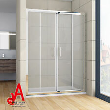 Brand New Double Sliding Doors Wall to Wall Shower Screen Enclosure 120cm-170cm