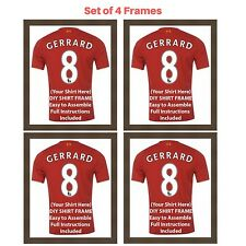 4 x Frame for Football, Rugby and Cricket shirt | Ready Made Shirt DIY Frame