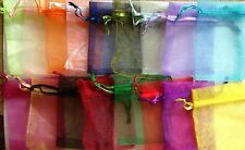 Luxury Organza Gift Bags Assorted Colours Jewellery Pouches Wedding Favours 7x5