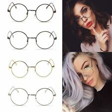 Fashion Unisex Metal Frame Clear Round Lens Glasses Nerd Spectacles Eyeglass Hot