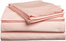 600TC - USA Bedding Collection, Peach (Solid & Stripe) 100% Cotton - Bed Sheets