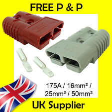 Anderson Style Plug SB 175 AMP Battery Connector Slave Jump GREY, RED 175A