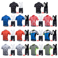 MTB/Road Cycling Short Sleeve Jersey Set Bicycle Clothing + 3D Padded Bib Shorts