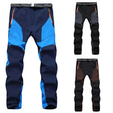Mens Outdoor Autumn Winter Warm Snowboard Ski Waterproof Hiking Climbing Pants