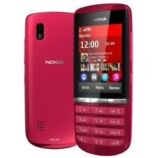 Brand New Nokia Asha 300 Red 3G Unlocked Mobile Phone Complete Box