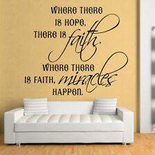 Where There Is Hope There Is Faith Religious Quotes Wall Sticker Home Art Decals