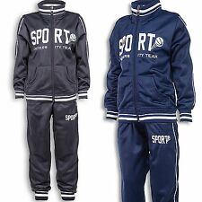 24brands Boys Tracksuit Jump Suit Trackies with Jacket Sports clothing