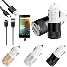 2.1A Car Charger For iPhone 6S 7   USB 3.1 Type-C Cable For LG G5 Nexus 6P 5X