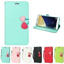 Cute Cherry Stand Wallet Case Flip PU Leather Phone Cover For Samsung iPhone LG