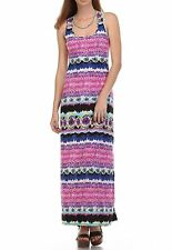 Sleeveless Long Maxi Dress - Poly - Multi