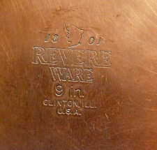 """1801 Revere Ware Stainless Steel Copper Bottom 9"""" Frying Pan and Lid"""