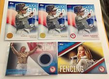 MARIEL ZAGUNIS 2016 Topps USA Olympics Team Relic Card Lot - Fencing