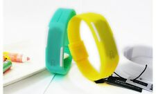 Digital Silicone Wrist Watch for Girls Boys teens students LED Sports Time Date