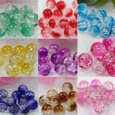 Wholesale 20/50Pcs Czech Glass Crack Craft Crystal Loose Round Spacer Beads 8MM