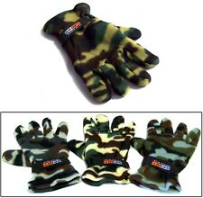 Adult Fleece Gloves In Camouflage Prints   Wholesale 6 Pairs Lot ( EGLV-CAMO#)