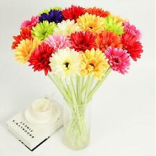 Home 1PC Artificial Silk New Wedding Daisy Flowers Colorful 30cm Decorations