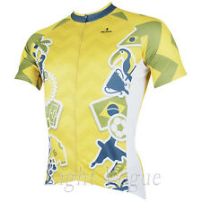 s Men World Cup Short Sleeve Cycling Jersey Bicycle Bike Sportwear Rider D151