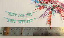 Best Wishes/Just For You die cuts for card making/scrapbooking