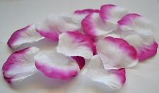 WEDDING PURPLE & WHITE SILK ROSE SCATTER PETALS CELEBRATION DECORATIONS CONFETTI