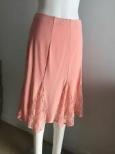 NEW Ladies Coral Pink Lace Lined Skirt - Ajoy Brand Size 12,14 & 16