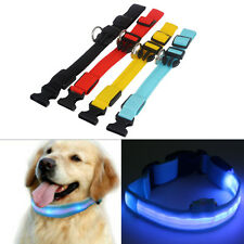 LED Glow Flash Light Dog Puppy Belt Harness Leash Tether Pet Safety Collar Rope
