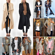 Women Boho Long Sleeve Open Front Cardigan Ladies Casual Jacket Coat Top Ponchos