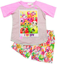 NEW SIZE 5-10 GIRLS PYJAMAS PJ PJS SUMMER SHOPKINS KIDS SLEEPWEAR TOP TEE GIFT