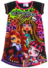 NEW Sz 5-12 KIDS SUMMER PYJAMAS GIRLS NIGHTIE DRESS MONSTER HIGH PJ TOP TEE GIFT