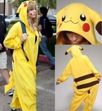 Unisex Onesie Pikachu Pajamas Anime Cosplay Costume Dress Pikachu Sleepwear1