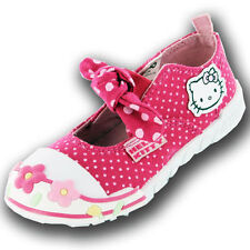 Hello Kitty Infant Girls UK 4 to 8 Daffodil Pink Canvas Brand New Trainers Shoes