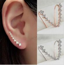 Fashion New Hot Charm Earring Jewelry Crystal Diamante Gold Silver Stud Earrings