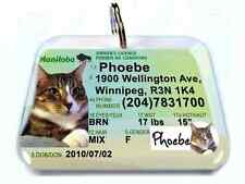 Manitoba CANADA drivers license dog cat custom novelty pet tag by ID4PET