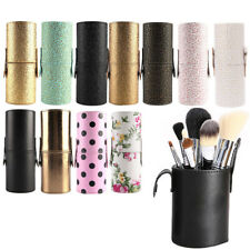 Leather Makeup Storage Empty Holder Cosmetic Cup Case Box For Makeup Brush Pen