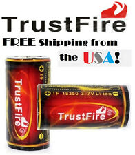TrustFire 18350 3.7v Li-ion Rechargeable 1200mAh Protection Battery V1 MOD New!