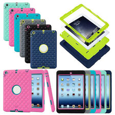 New PC+ Silicone Soft Back Shell Skin Case Cover For Apple iPad Mini 1 2 3