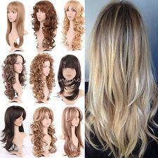 Ladies Long Wavy Blonde Brown Wig Layers Curly Full Wigs Cosplay Hair as Remy QL