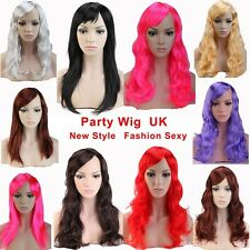 Women Lady Cosplay Full Wig Long Curly Straight Hair Party Wigs Bright Color #V9