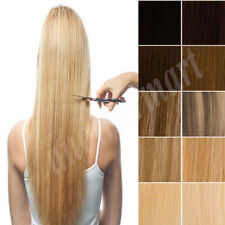 """US SALE One Piece Clip In Remy Human Hair Extensions 3/4Full Head 18""""20""""22"""" B825"""