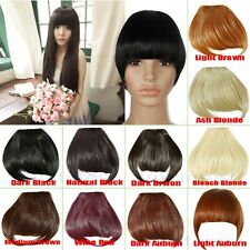 Sweet Girl Front Straight Bangs Fringe Hair Clip in Hair Extensions US Post tf6